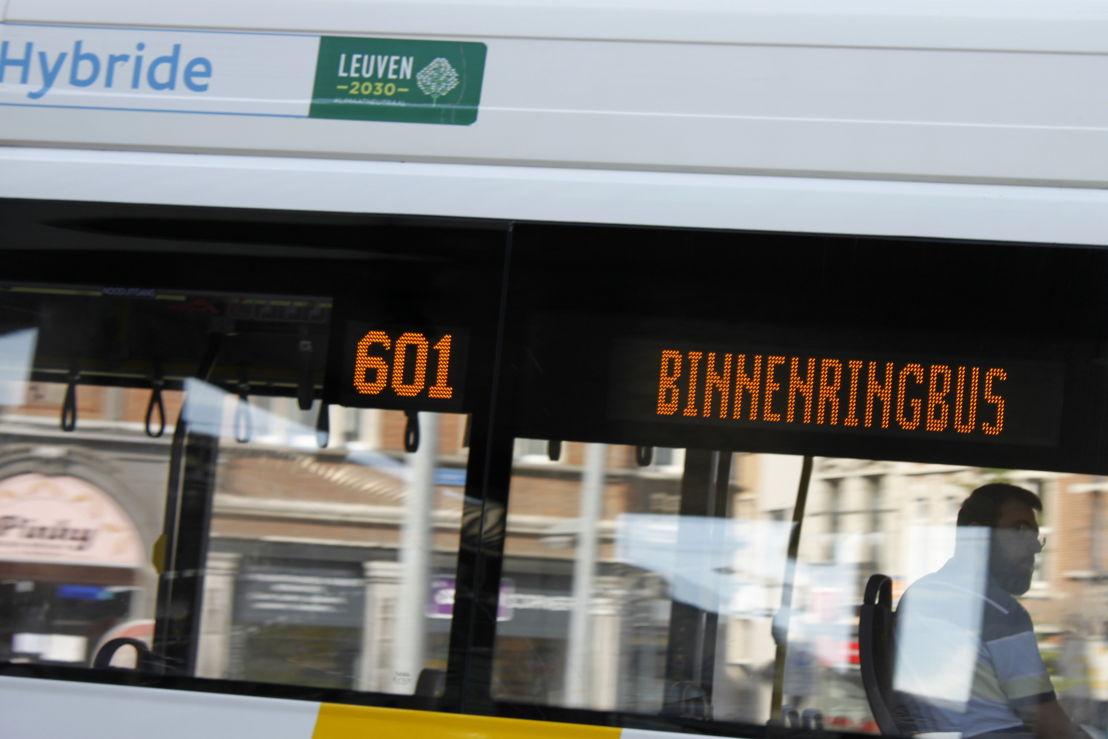 Leuven: de dienstregeling van de Ringbus wijzigt in de grote vakantie.