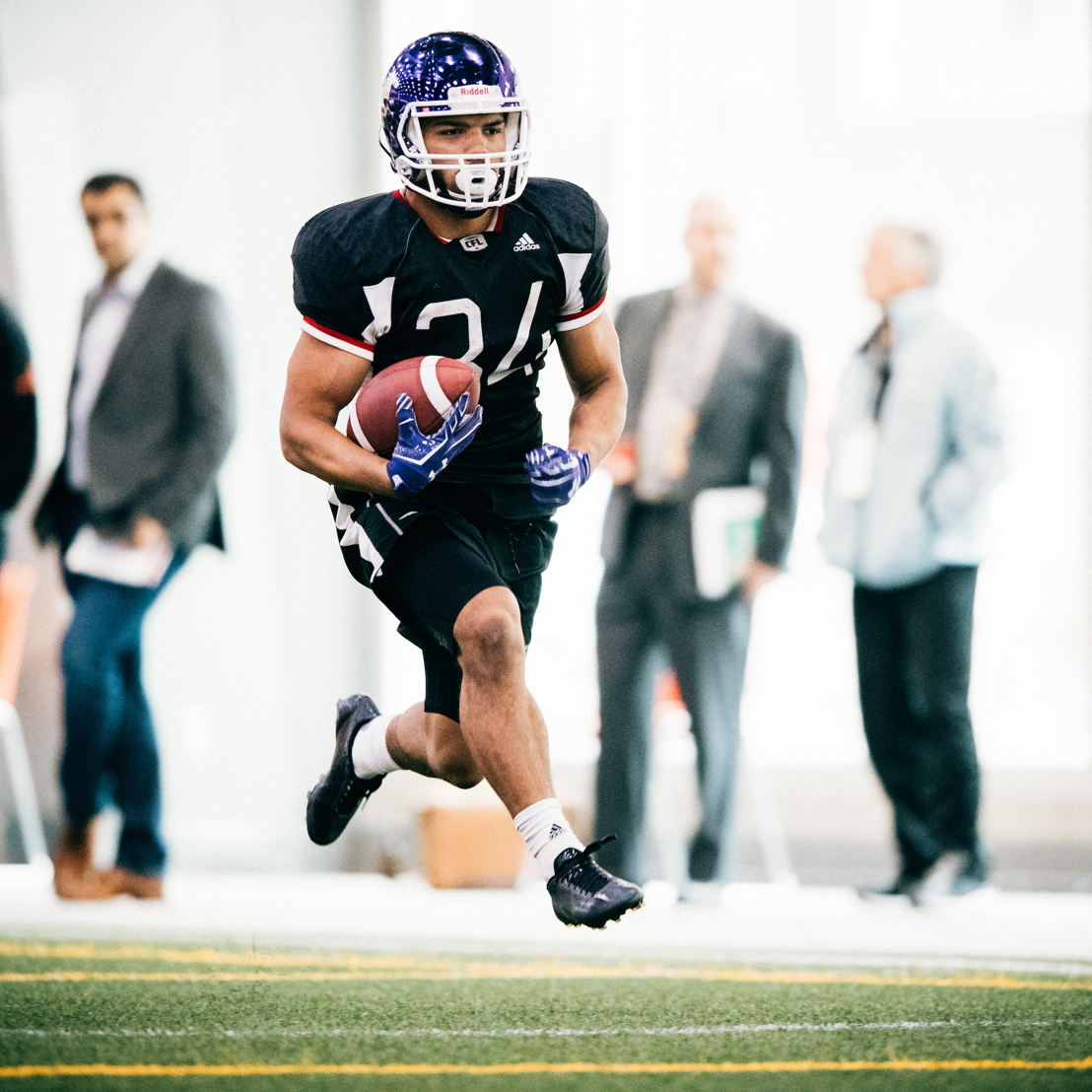 Alex Taylor of Winnipeg,  MB at the CFL Combine presented by adidas. Photo credit: Johany Jutras/CFL.ca
