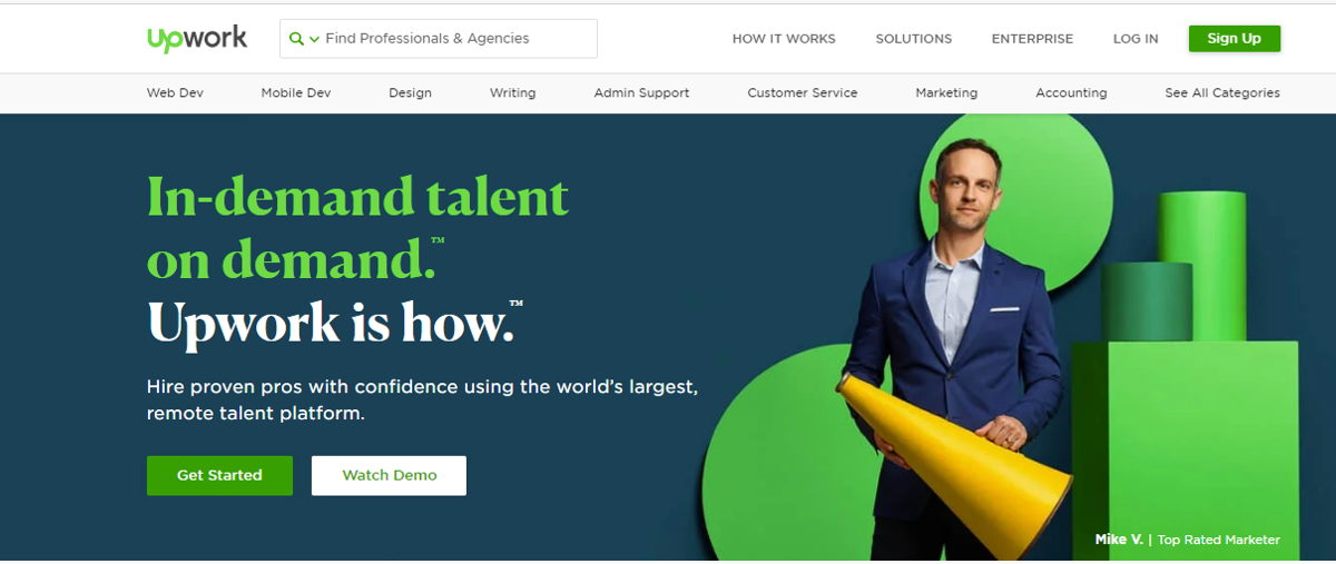 Upwork is a great place to make strong professional connections. Photo: upwork.com