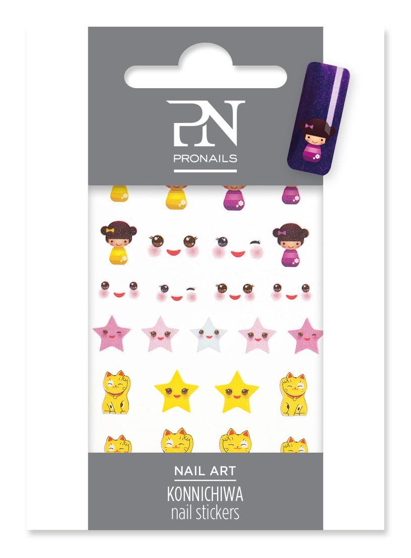 Nail Stickers Konnichiwa uit Rising Sun Collection