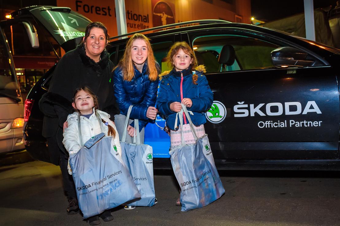 Des enfants « Make-A-Wish » à Disney on Ice grâce à ŠKODA Import : « Des étoiles plein les yeux ! »