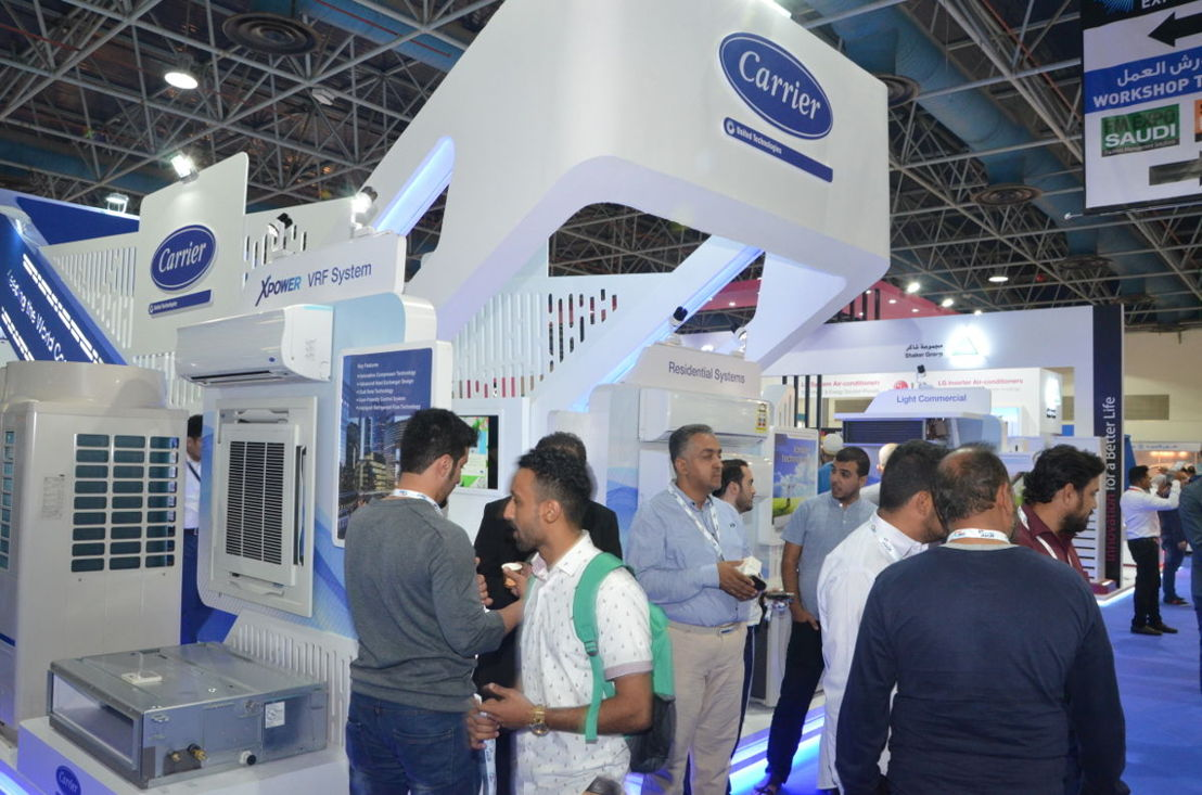 Products on display at HVACR Expo Saudi 2018