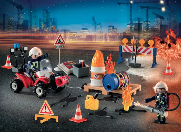 """Calendrier de l'Avent """"Pompiers et incendie de chantier"""""""