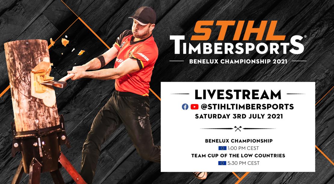 Felbegeerde titel van STIHL TIMBERSPORTS® Benelux Kampioen 2021 staat opnieuw op het spel
