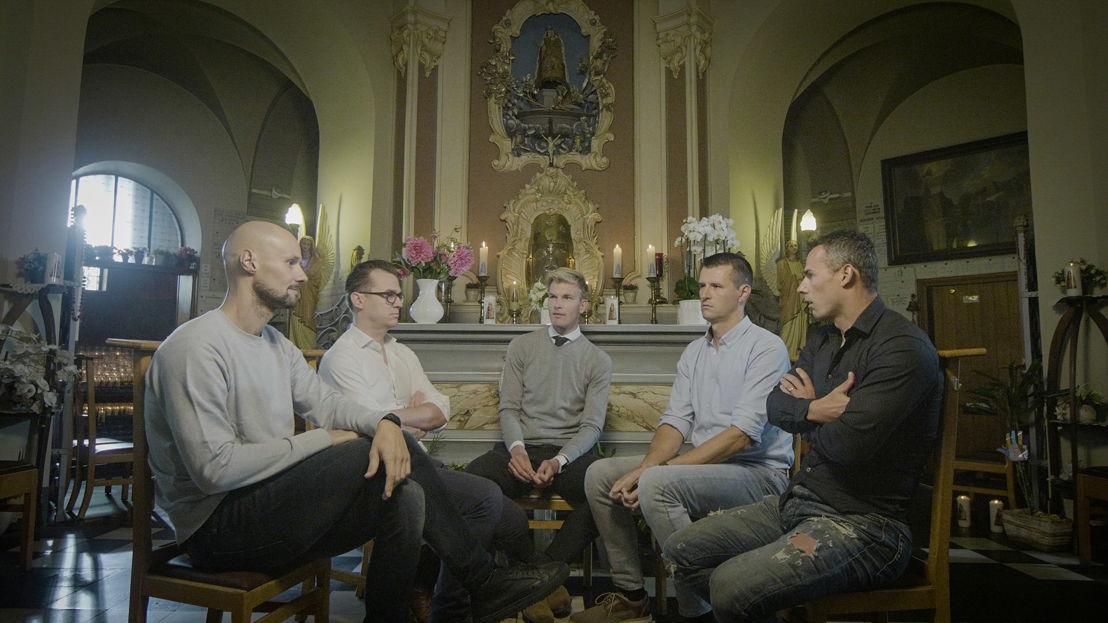 Aflevering 3: Tom Boonen, Nick Nuyens, Ruben Van Gucht, Staf Scheirlinckx, Bjorn Leukemans - (c) Deklat Binnen
