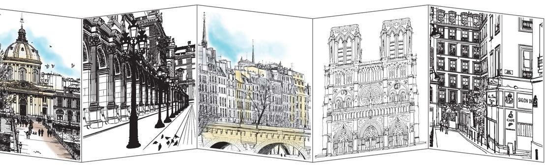 Binnenwerk 'Parijs in aquarel'