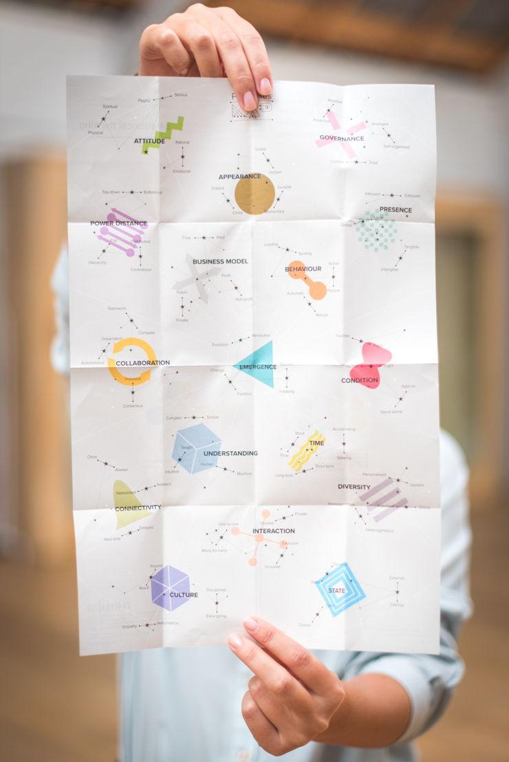 De Paradox cards poster. Grafisch ontwerp: Julien Hennequart. Fotografie: Peter Vermaercke, Namahn. Kristel Van Ael & Joannes Vandermeulen, Namahn - Henry van de Velde Lifetime Achievement Award 16