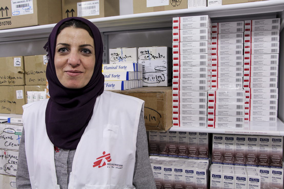 "Samar, pharmacist<br/>""As a pharmacist working with MSF, I'm supporting the emergency response assisting people in need and those affected by the recent violence. We rapidly scaled up to respond, donating drugs, medical disposables, surgical instruments and logistic supplies to several Ministry of Health hospitals in Gaza city. These facilities, despite their best efforts, are still facing severe shortages."" Photographer: Laurie Bonnaud"