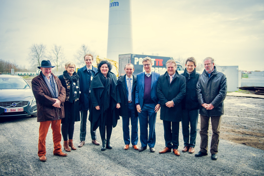 Storm-windpark Wielsbeke ingehuldigd door Minister Turtelboom