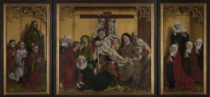 Edelheere Triptych (Triptych with the Descent of the Cross and donors), navolger van Rogier van der Weyden, c. 1443 © Lukas - Art in Flanders, foto Dominique Provost
