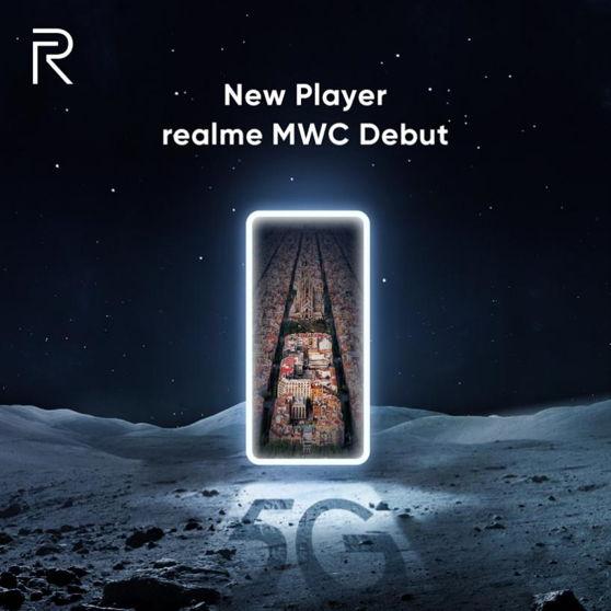 Póster oficial del debut de realme en el MWC