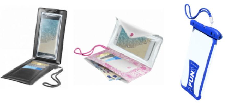 V.l.n.r.: Voyager Wallet (adviesprijs € 19,99), Voyager Pochette (adviesprijs € 16,99), Voyager (adviesprijs € 14,95)