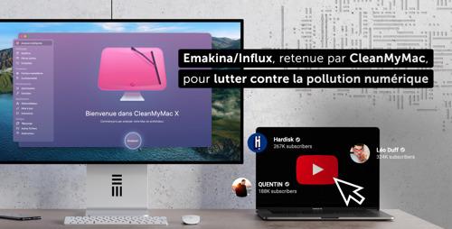 Emakina/Influx, retenue par CleanMyMac, pour lutter contre la pollution numérique