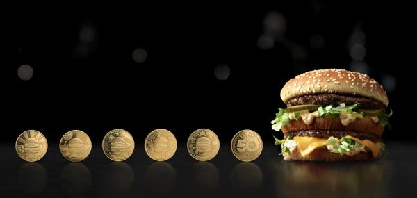 Mcdonald S Viert De 50e Verjaardag Van Big Mac Met Exclusieve Maccoins