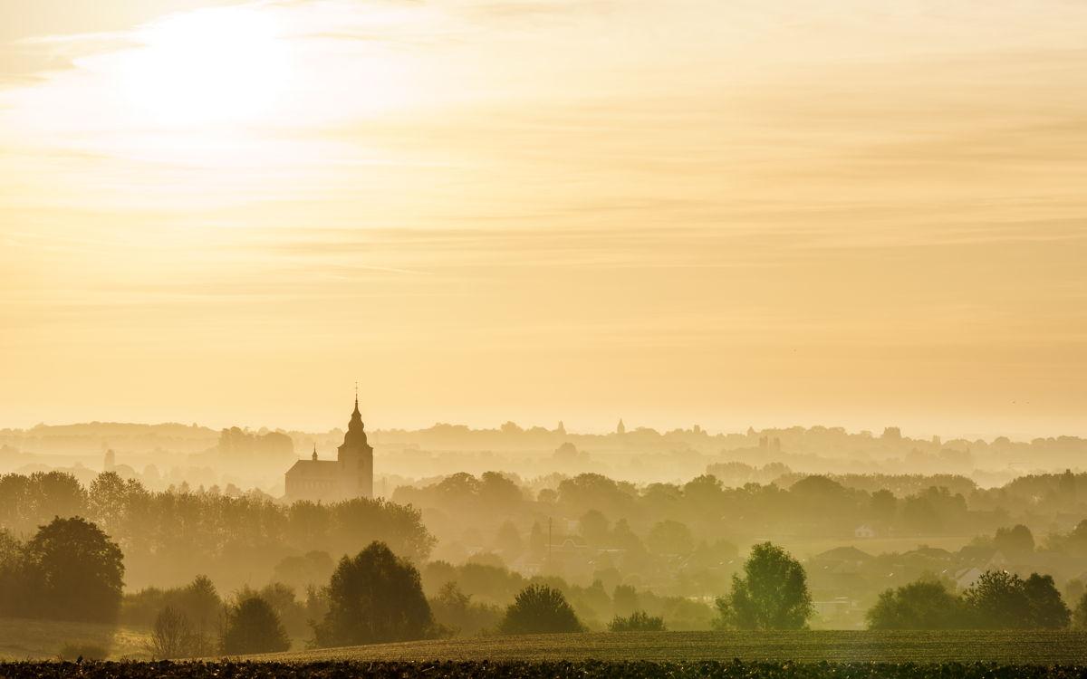 Het landschap rond Hoegaarden in de Getevallei (copyright: Pieter-Jan Alles)