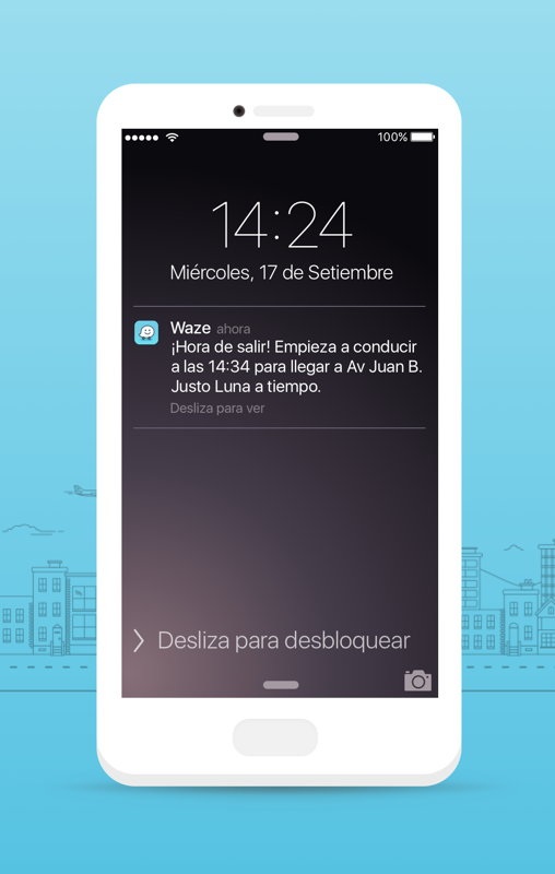 Waze Planned Drives-Notificaciones