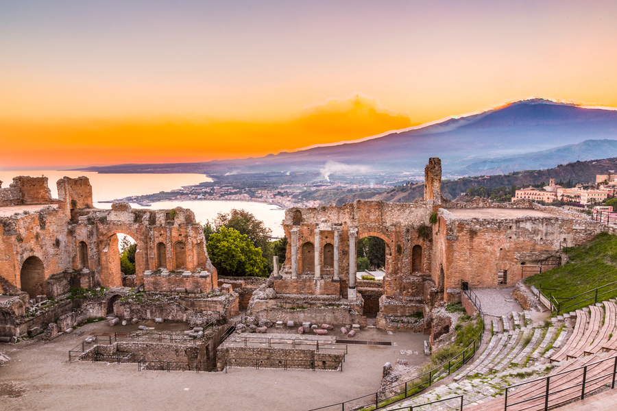 The Greek Theatre of Taormina, Catania