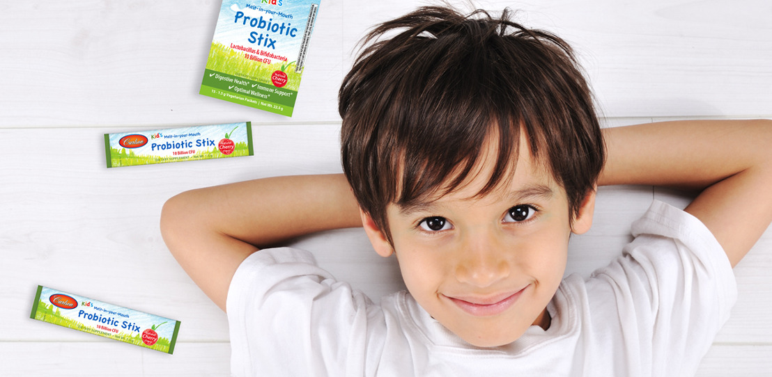 Carlson Introduces Kid's Melt-in-your-Mouth Probiotic Stix