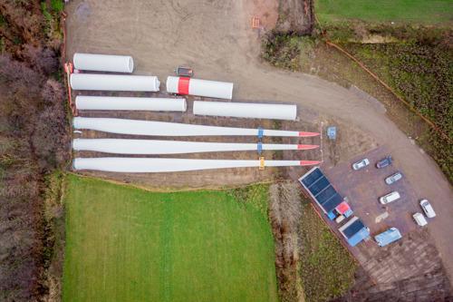 Open Werf Storm-windpark in de Haven van Gent.