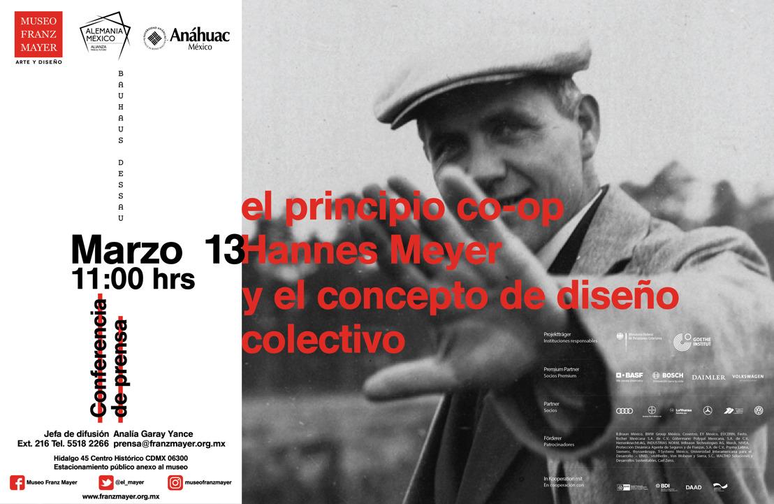 """Invitación: Conferencia de Prensa """"El principio co-op Hannes Meyer y el concepto de diseño colectivo"""""""