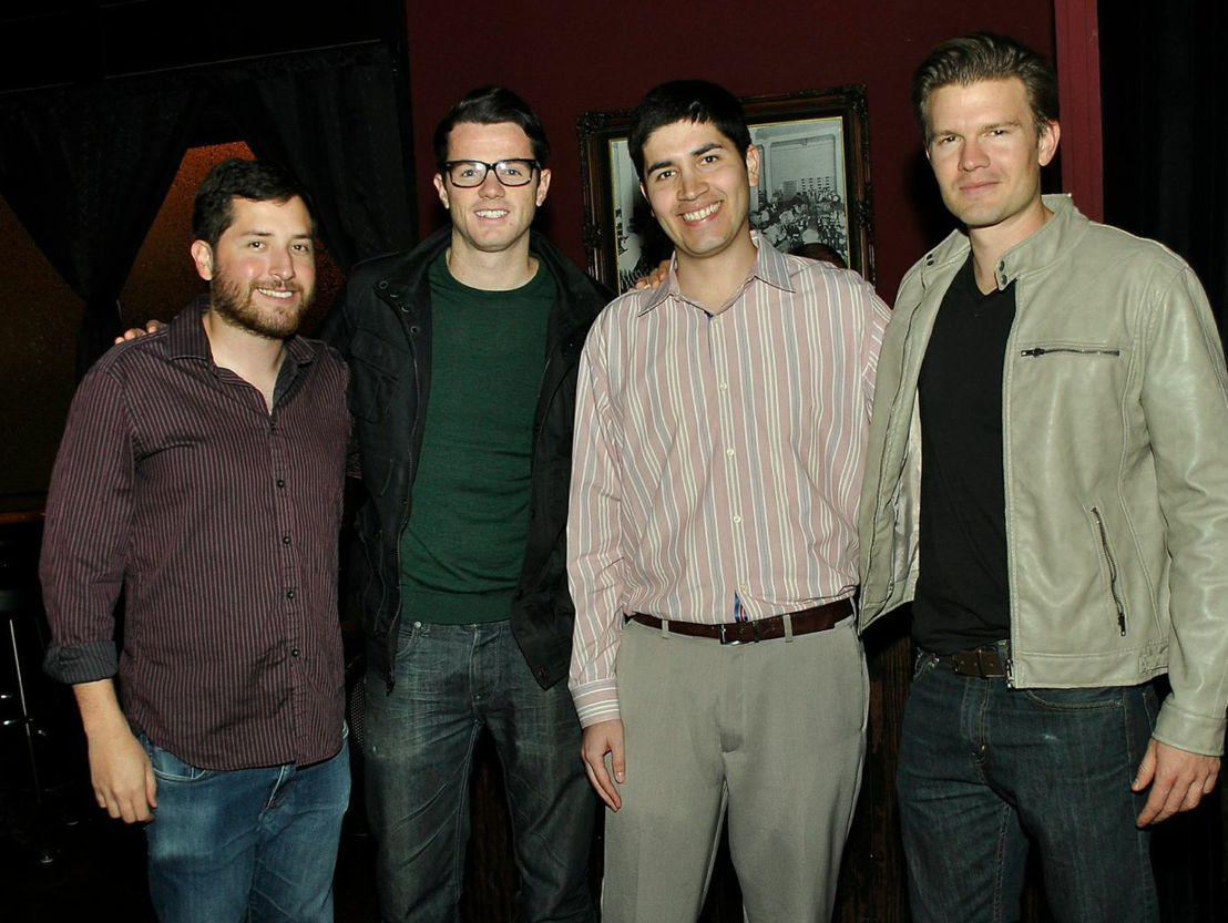 Screenwriter Josh Hamburger, actor Chadwick Hopson, talent manager Jordan Escoto and actor Brian Flaccus.