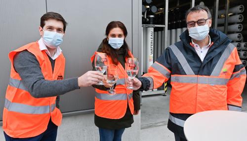 Wereldwaterdag: minister Zuhal Demir bezoekt waterzuiveringsinstallatie in de Stella Artois brouwerij