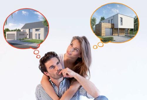 Deux choix de construction sous un même toit