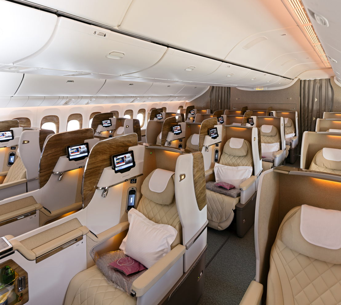 Emirates will also showcase its latest Boeing 777 Business Class seat.