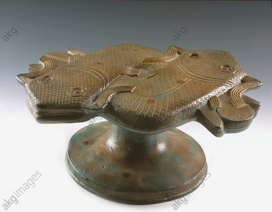 Ritual container, Benin, XVII sec.<br/>Bronze<br/>National Museum of Lagos<br/><br/>AKG1710406