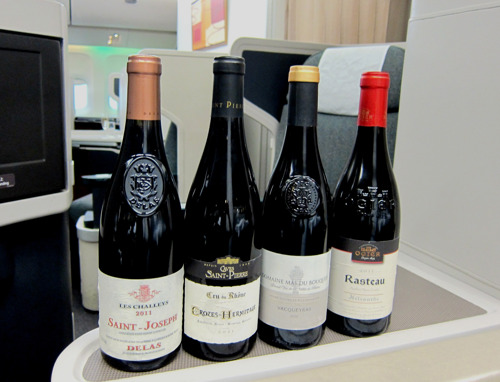 Cathay Pacific features fine wines from the Rhône Valley