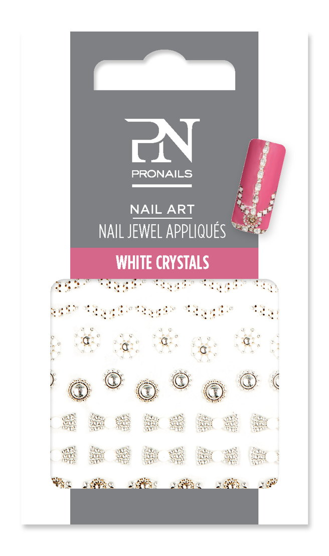 Nail Jewel White Crystals