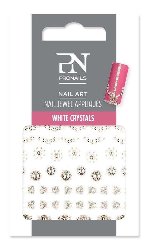 Nail Jewel White Crystals
