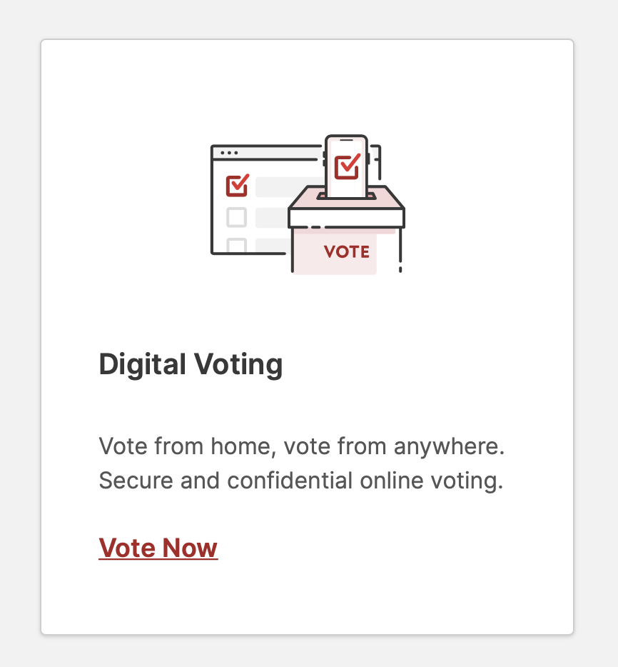 OneFeather Digital Voting Login