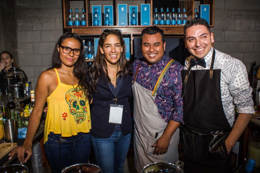 Azanthy Dokins, Bertha González, Osvaldo Vázquez y Edgar Rueda