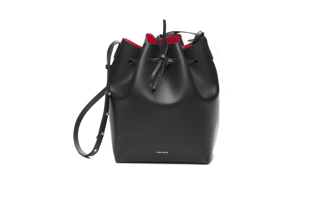 Mansur Gavriel Bucket Bag Black 615 euro at Graanmarkt 13