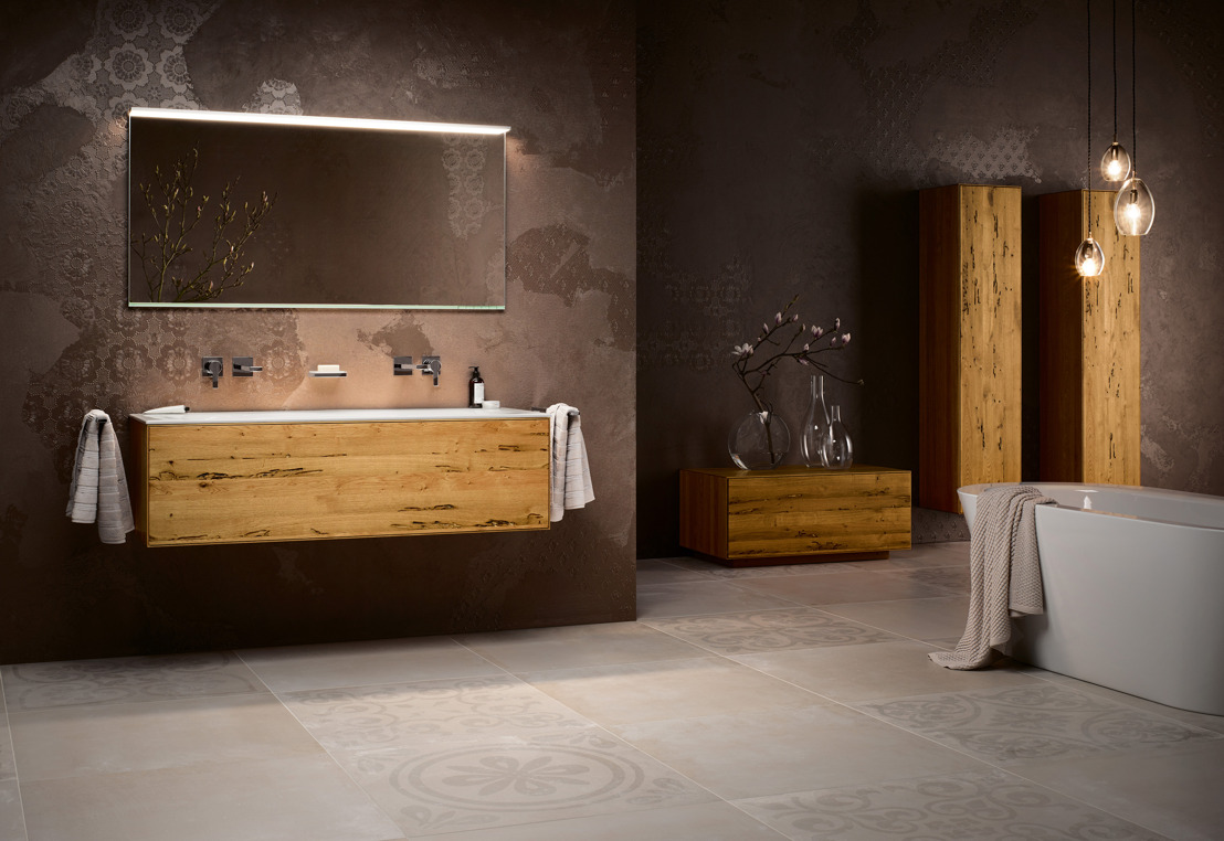 Edition Lignatur de Keuco : le bois naturel s'invite dans la salle de bains