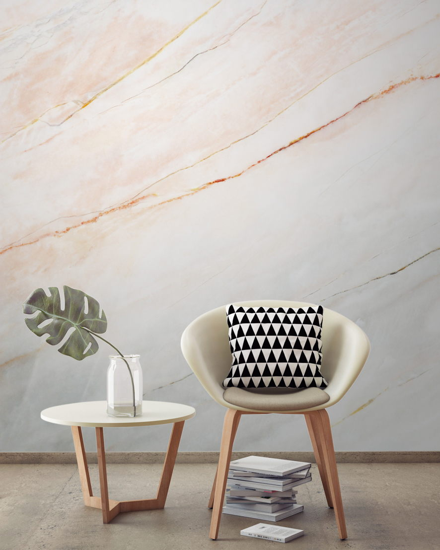Blush Pink Fade Marble