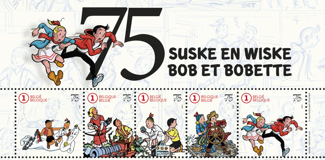Bob et Bobette reçoivent leur propre timbre-poste en cadeau pour leurs 75 ans