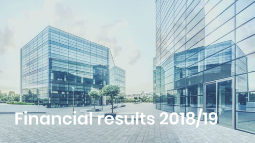 2018/19 financial results: Further increase in profitability, higher dividend proposed again