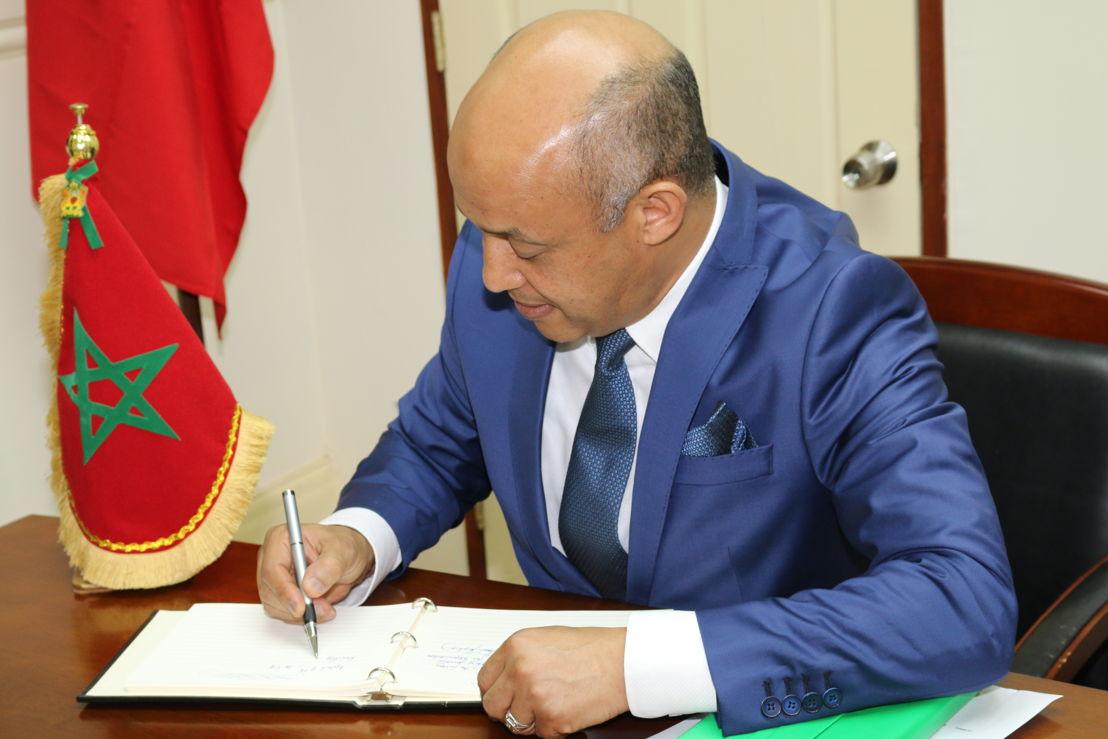 Ambassador of the Kingdom of Morocco, H.E. Abderrahim Kadmiri.