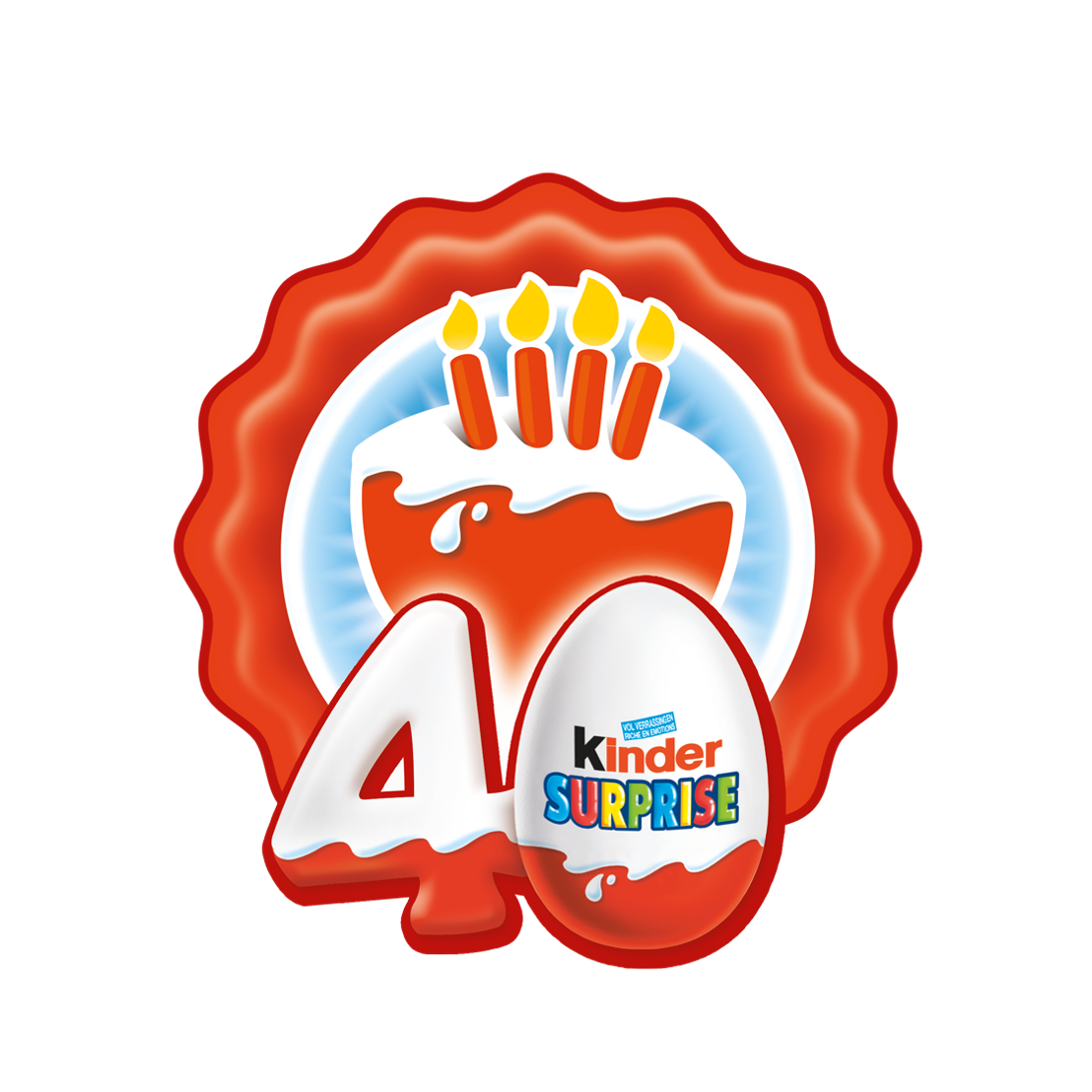 Logo Kinder Surprise 40 ans