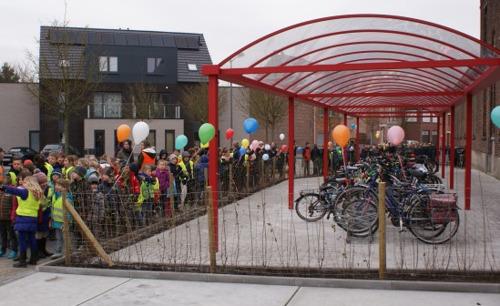 Uitbreiding fietsenstalling voor school De Kriekelaar uit Zemst