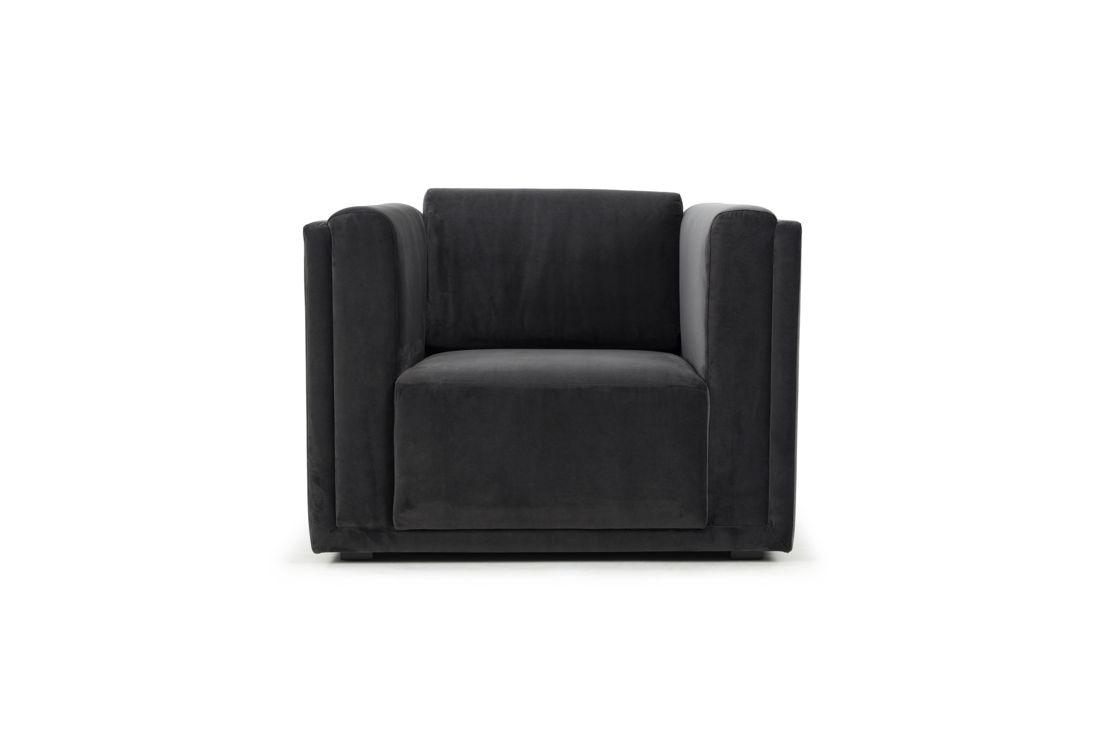 Nohr, Chair, Velour Dark Grey