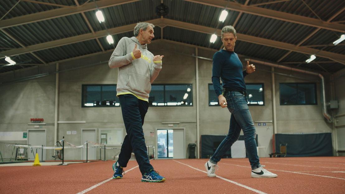 Hoogspringen: Maarten en coach Wim Vandeven - (c) De Mensen