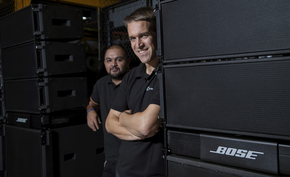 En México, Castelein Servicios Audiovisuales suma un sistema de arreglo lineal ShowMatch DeltaQ de Bose Profesional a su oferta de equipos en renta