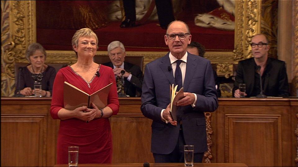 Het Groot Dictee : Martine Tanghe en Philip Freriks | (c) VRT