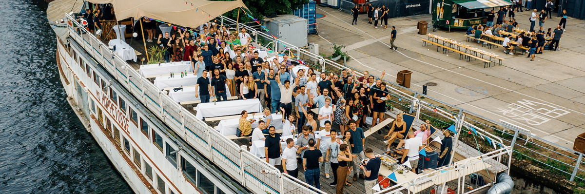 Team picture at the Kolibri Games summer party.