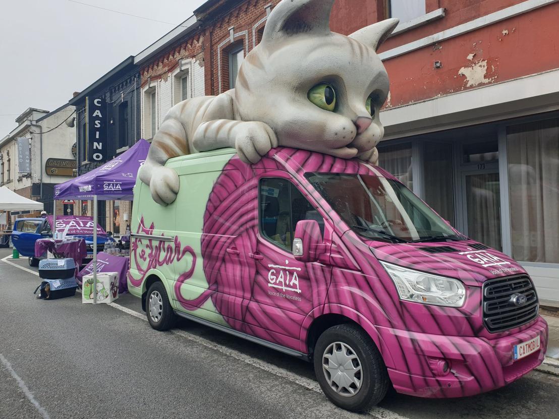La catmobile de GAIA au Tour de Wallonie