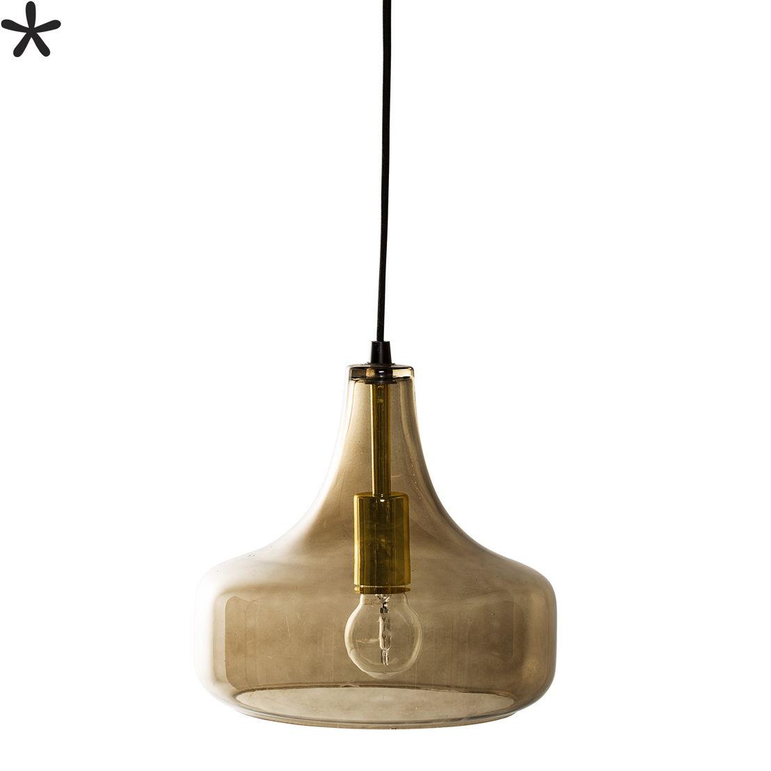 Bloomingville Hanglamp glas bruin 155€