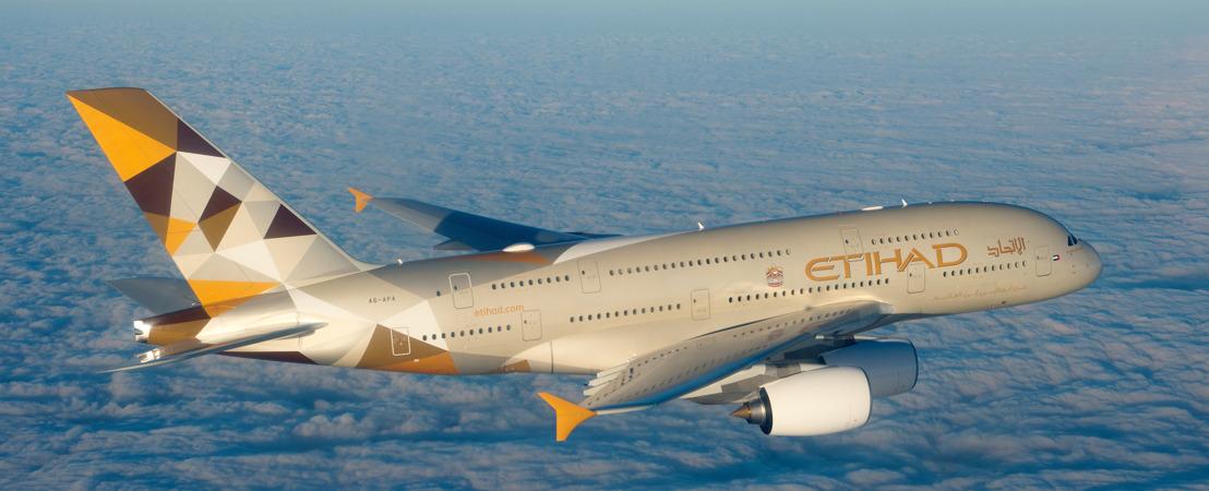 Etihad Airways vervoert 17% meer gasten in 2015